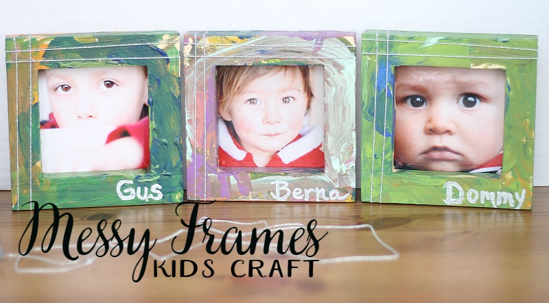 messy frames--crafts for kids