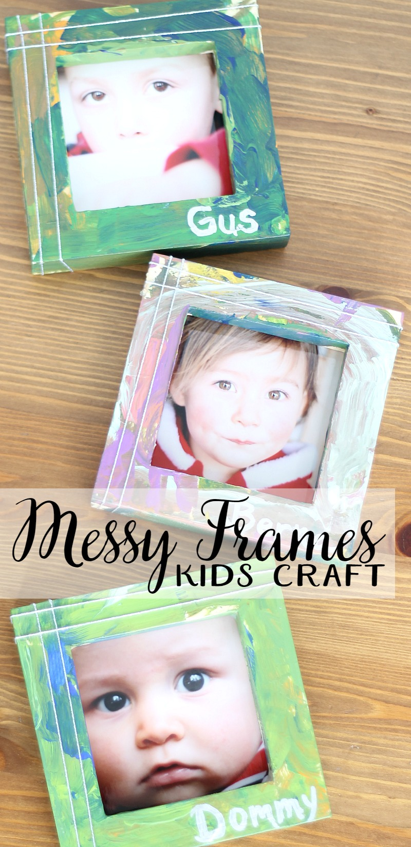 messy frames kids craft