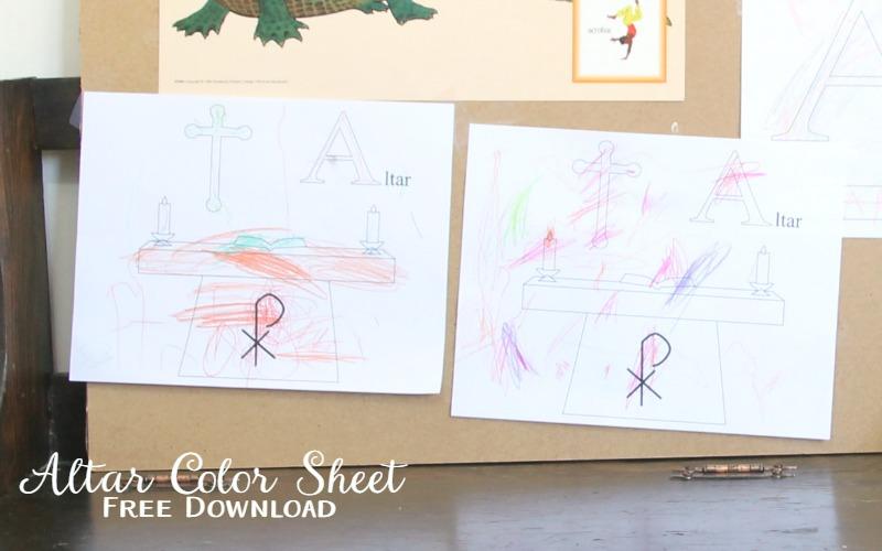 Altar Color Sheet free download