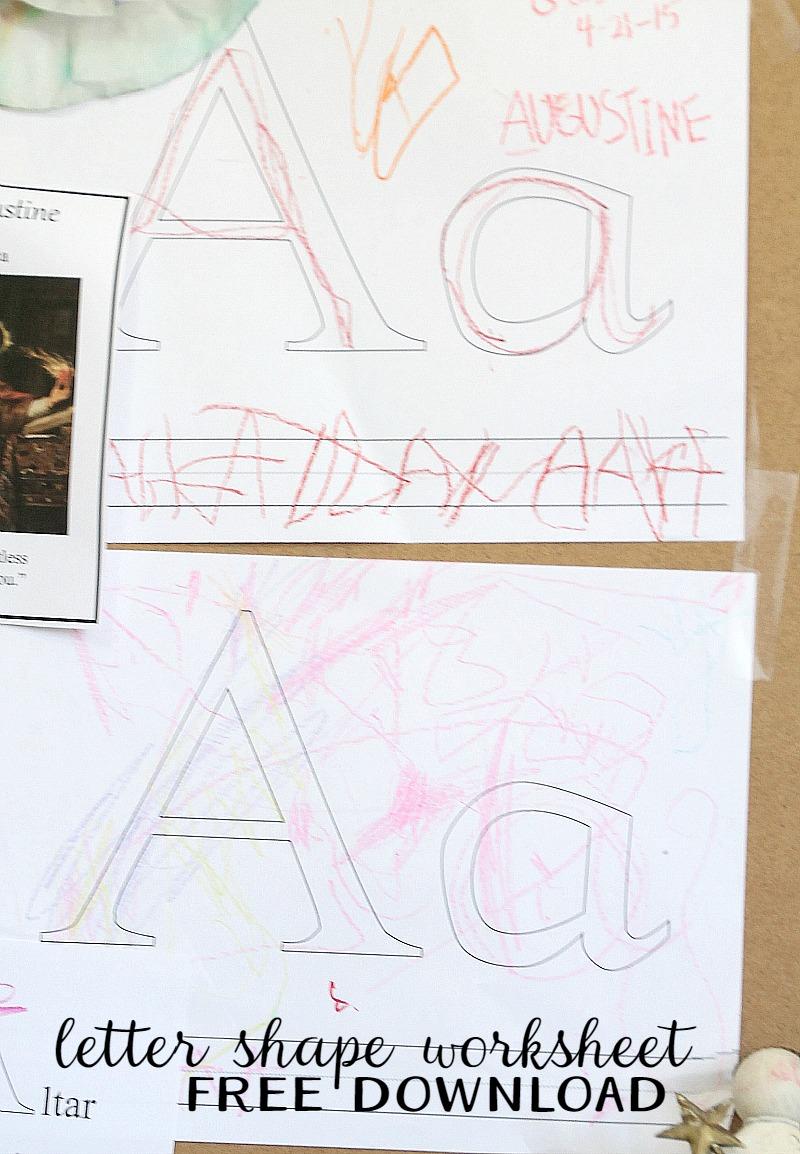 Letter Shape Worksheet -A