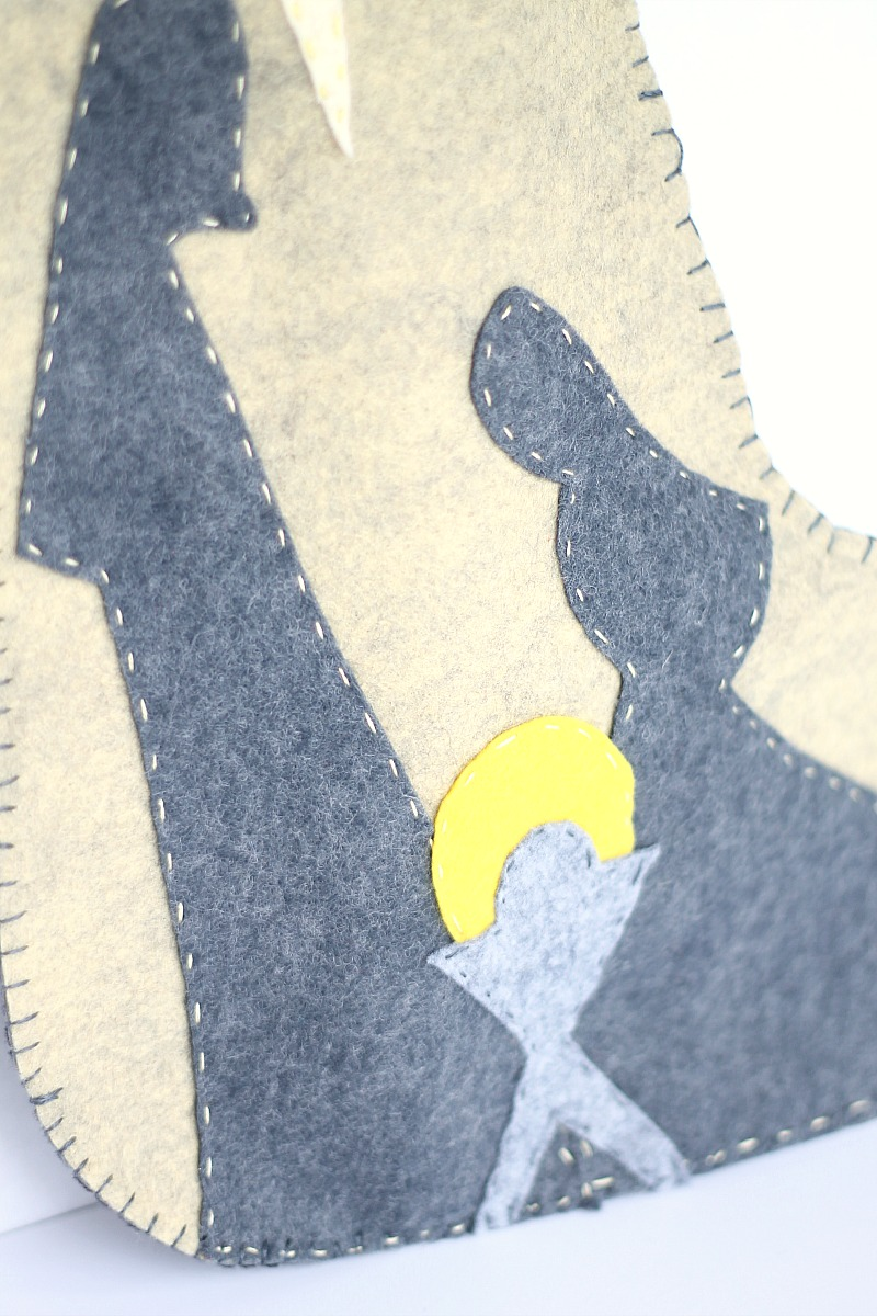 Nativity felt Christmas Stocking Pattern