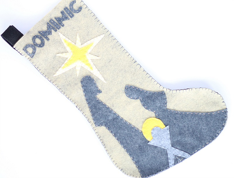 Nativity felt stocking pattern for Christmas