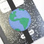 felt earth day bookmark with free template