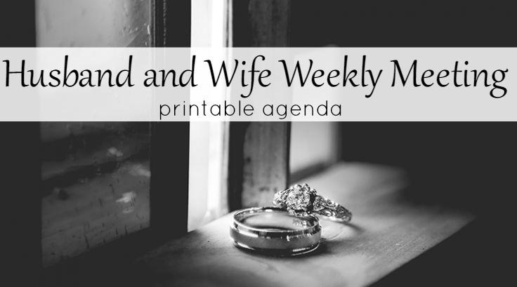 husband and wife weekly meeting printable agenda