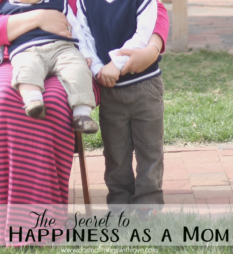 the secret to happiness as a mom