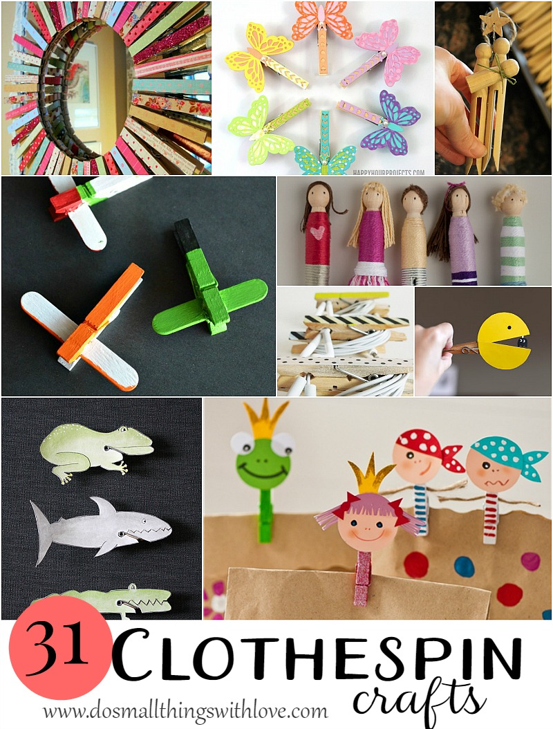 31 clever clothespin crafts