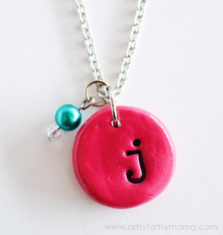 Clay-Stamped-Initial-Necklace