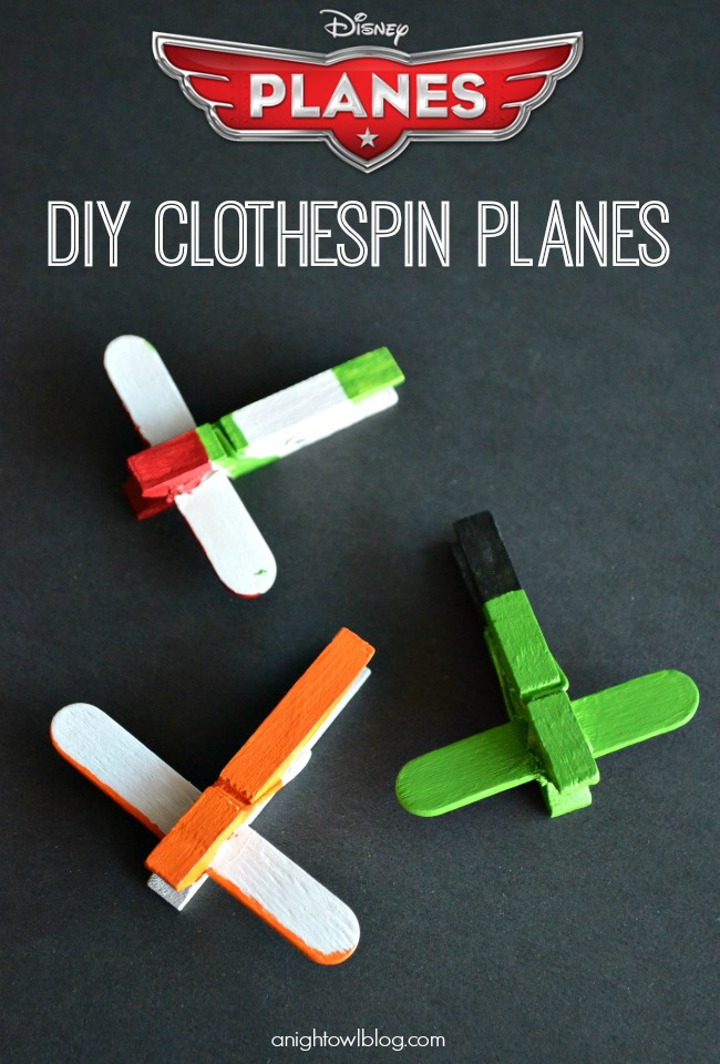 Disney-Planes-DIY-Mini-Clothespin-Airplanes-1