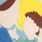 Mary and Jesus DIY felt wall art