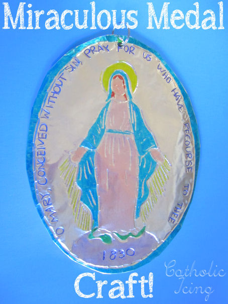 miraculous-medal-craft-for-catholic-kids