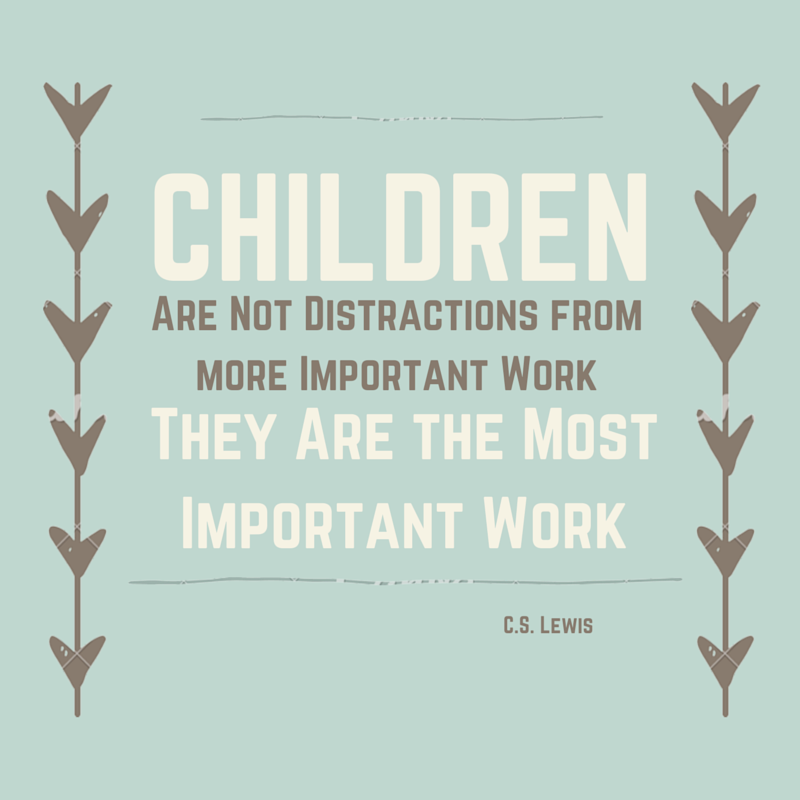 Image result for cs lewis children are not a distraction