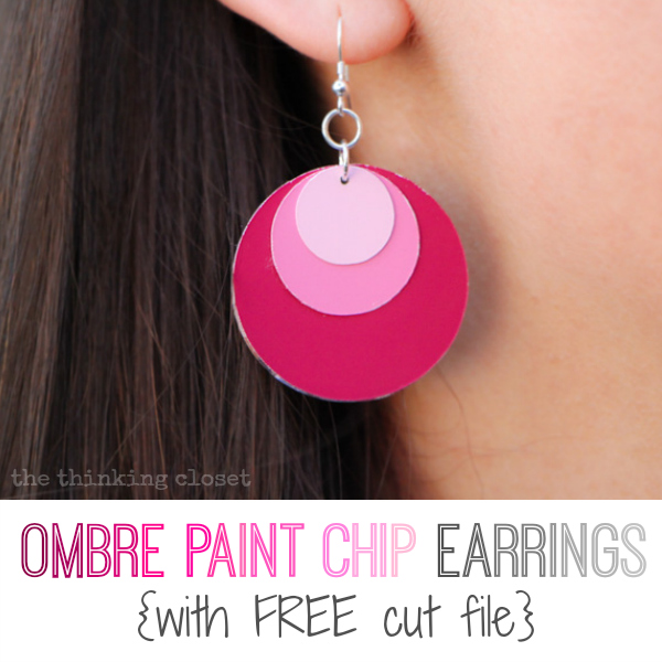OmbrePaintChipEarrings