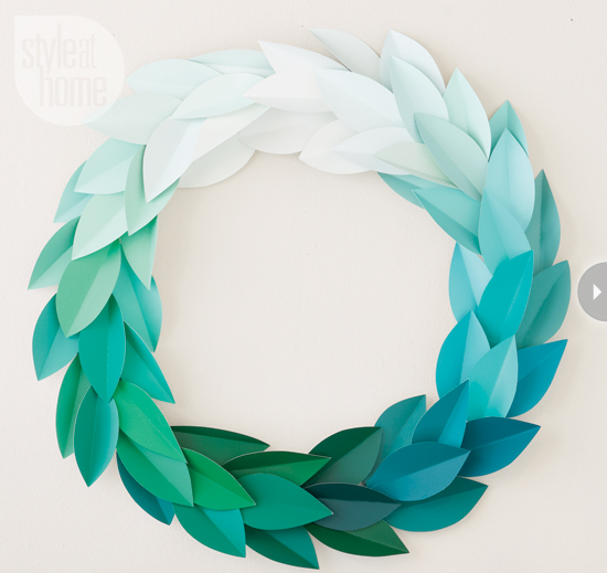 41 creative paint chip crafts do small things with love - Comment faire une couronne de noel ...