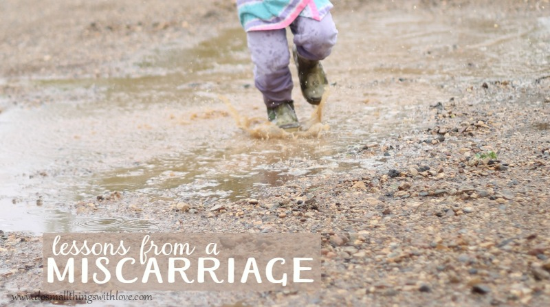 lessons from a miscarriage