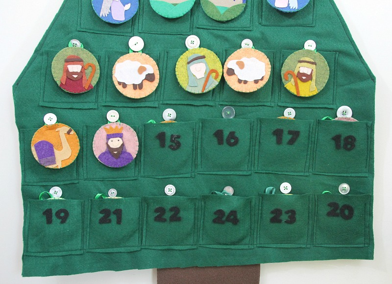 nativity themed felt advent calendar
