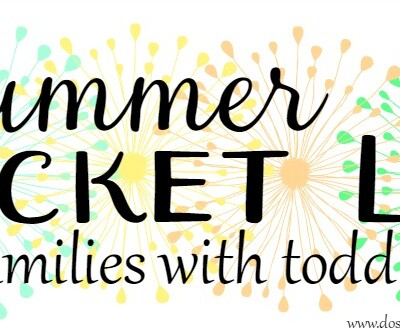 Summer Bucket List for Families with Toddlers