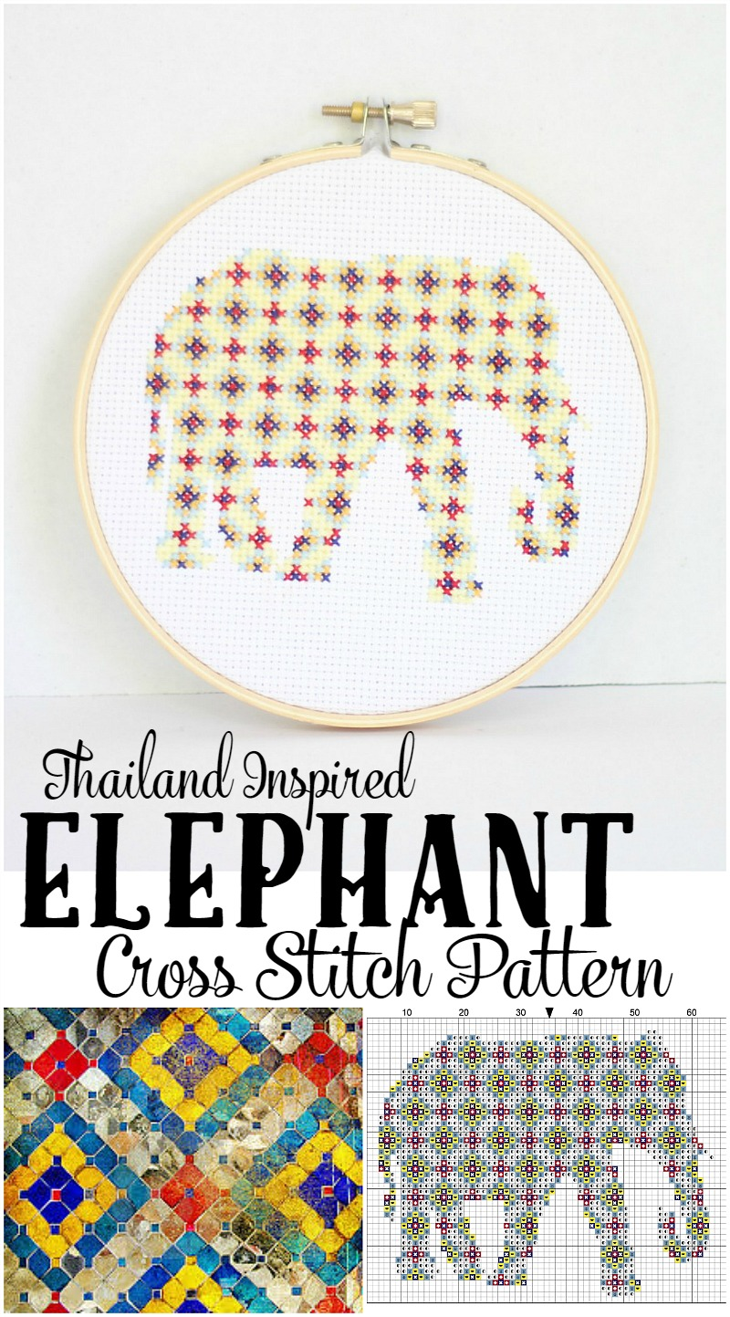 thailand inspired cross stitch patterns-free