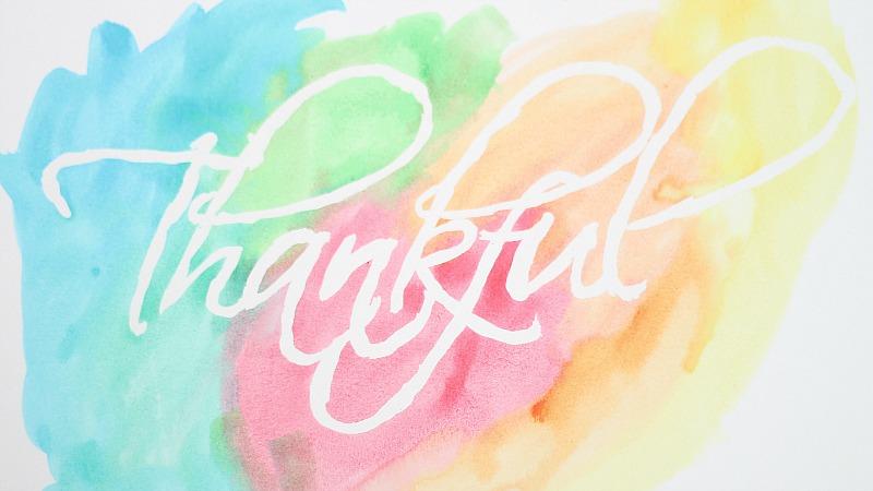 thankful watercolor art