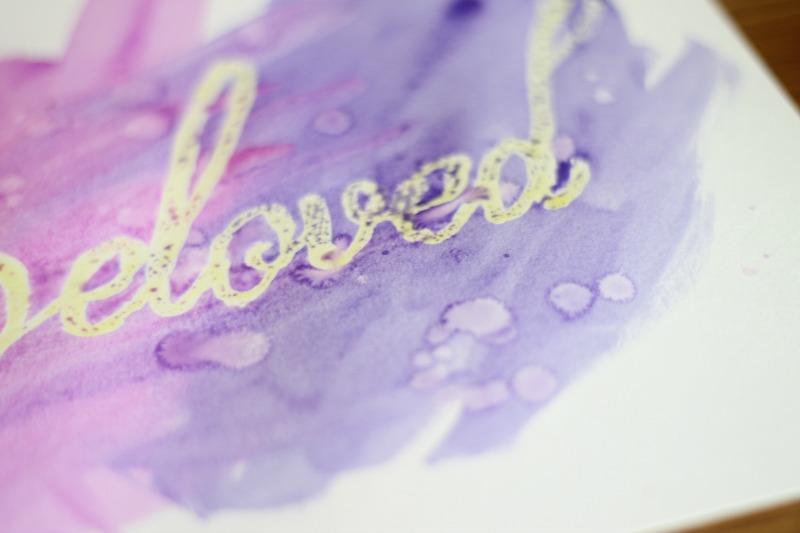 watercolor wording splashing