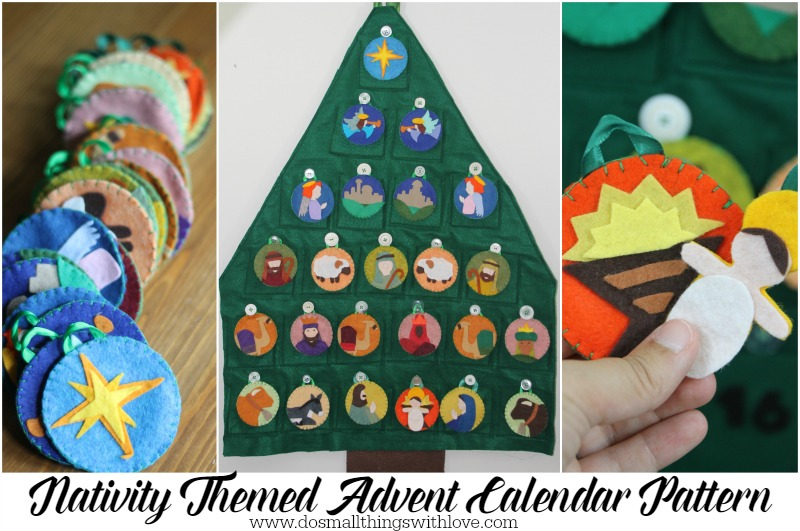 Nativity Themed Advent Calendar Pattern