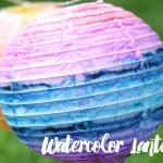 diy watercolor lanterns