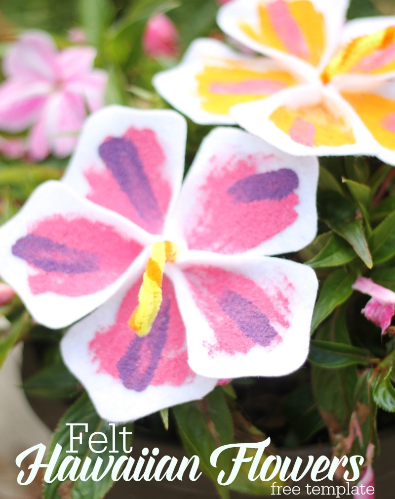 felt hawaiian flower tutorial with free template