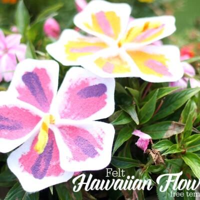 Felt Hawaiian Flowers {free template}