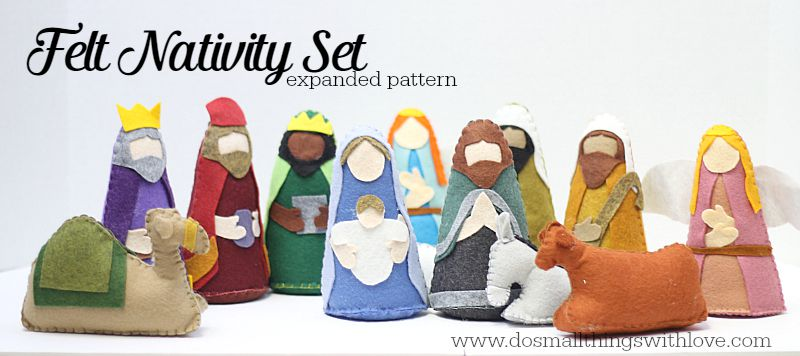 felt nativity set expanded pattern