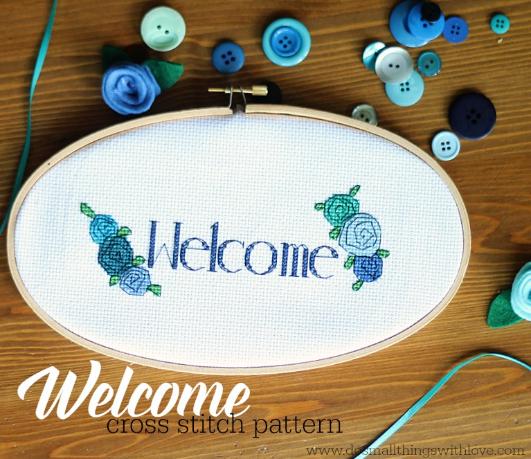 welcome cross stitch pattern