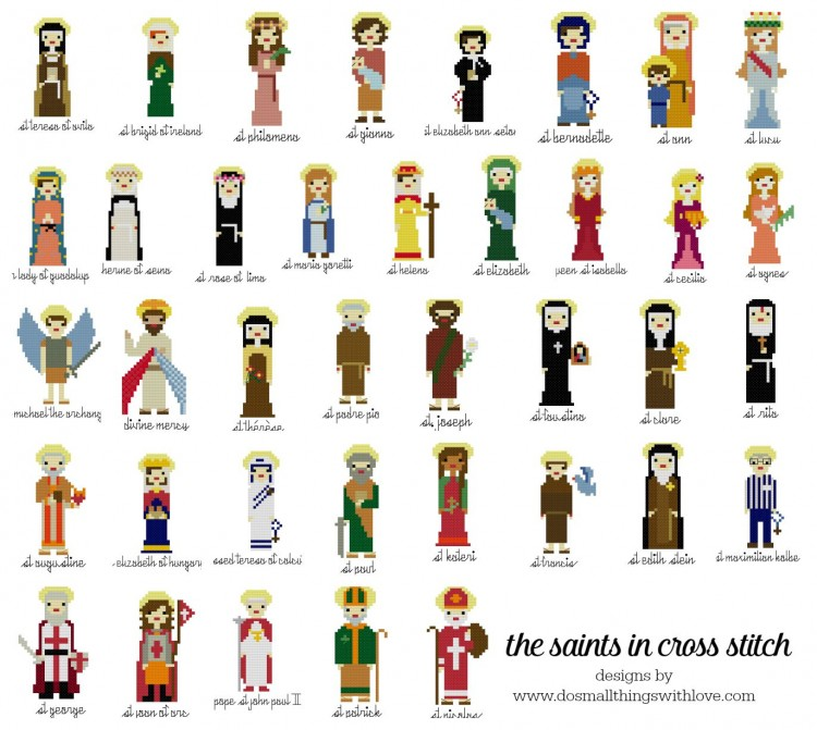 Cross Stitch Saints--all
