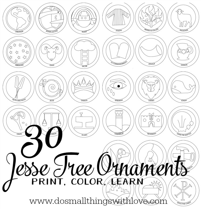 Crafty image throughout printable jesse tree ornaments