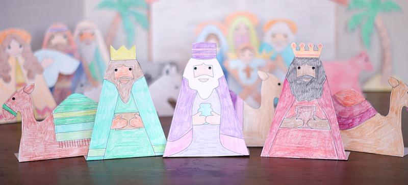 printable kings nativity