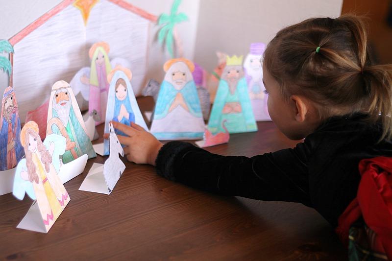 printable nativity advent calendar for kids