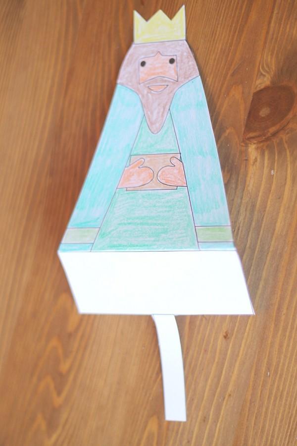 printable nativity folding