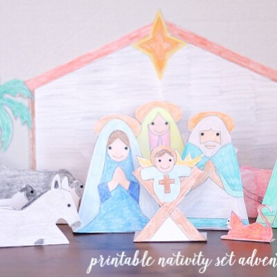 Printable Advent Calendar Nativity Set