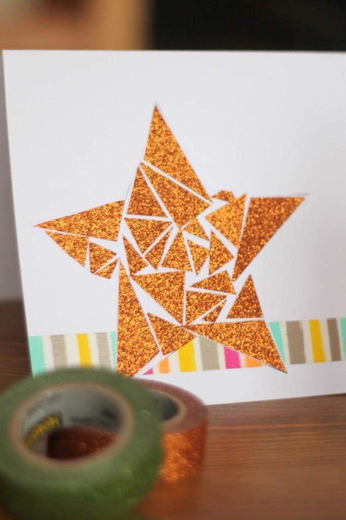Geometric greeting cards star