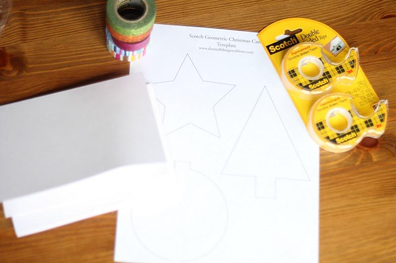 Scotch Tape Card Supplies