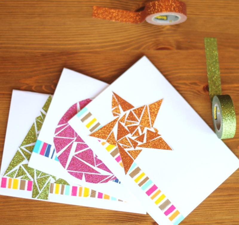 Scotch Tape Geometric Cards