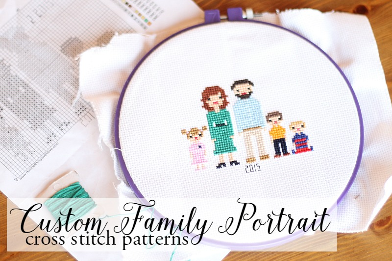 Custom Family Portrait Cross Stitch Patterns