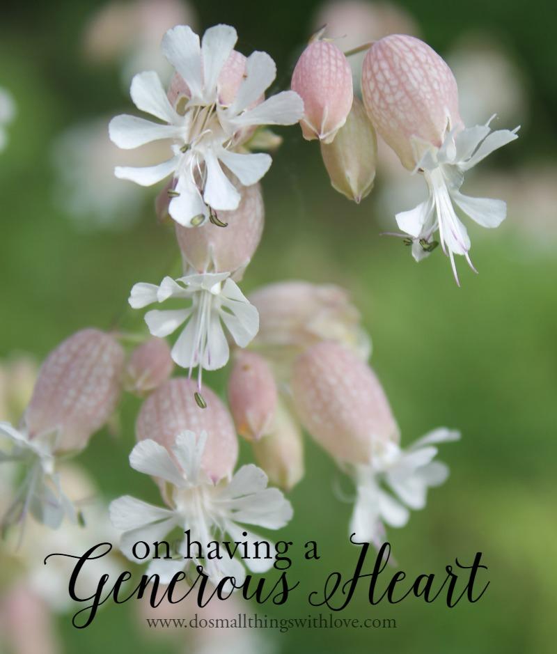 on having a generous heart