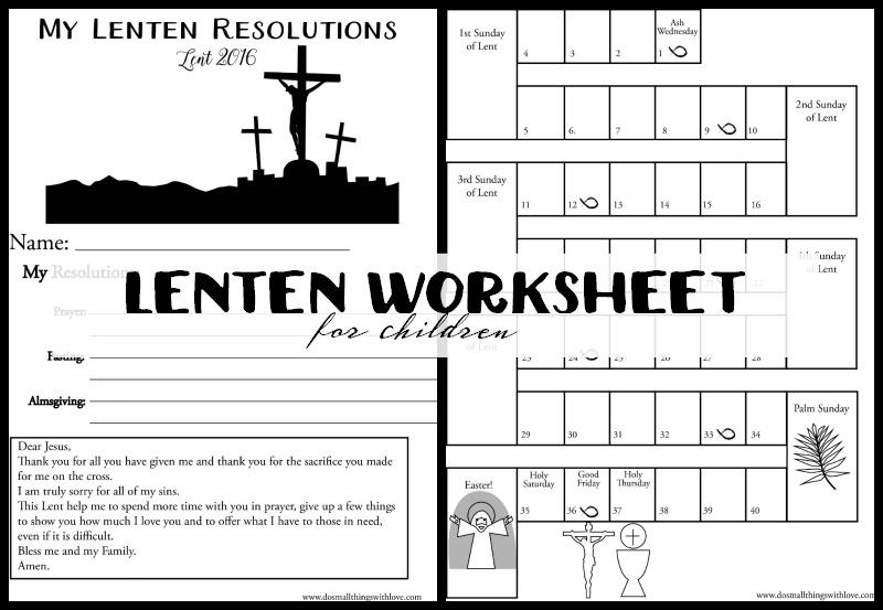 Lenten Bundle For Kids 3 Printable Activities Do Small Things. Lenten Worksheet For Children. Printable. Printable Worksheets For Kids At Mspartners.co