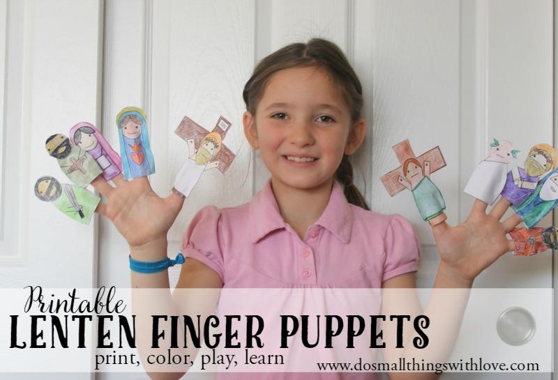 Printable Lenten Finger Puppets