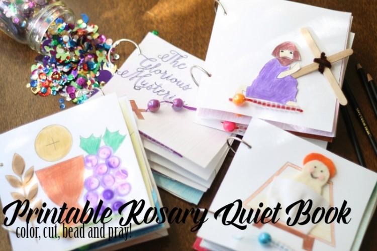 Printable Rosary Quiet Book