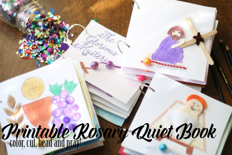 Printable Rosary Quiet Book 2