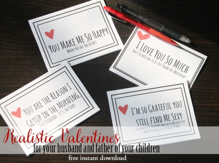 Realist Valentines For Your Husband {free PDF}