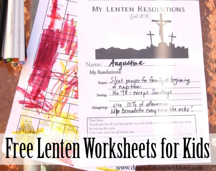 Lenten Worksheets For Kids {Free Printable}