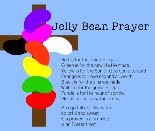 photograph about Jelly Bean Prayer Printable named Jelly Bean Prayer--Absolutely free Tags for Easter Catholic Sprouts