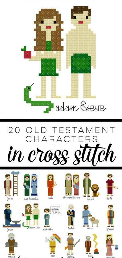 20 Characters from the Old Testament in Cross Stitch