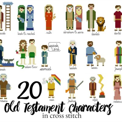 20 Old Testament Characters in Cross Stitch