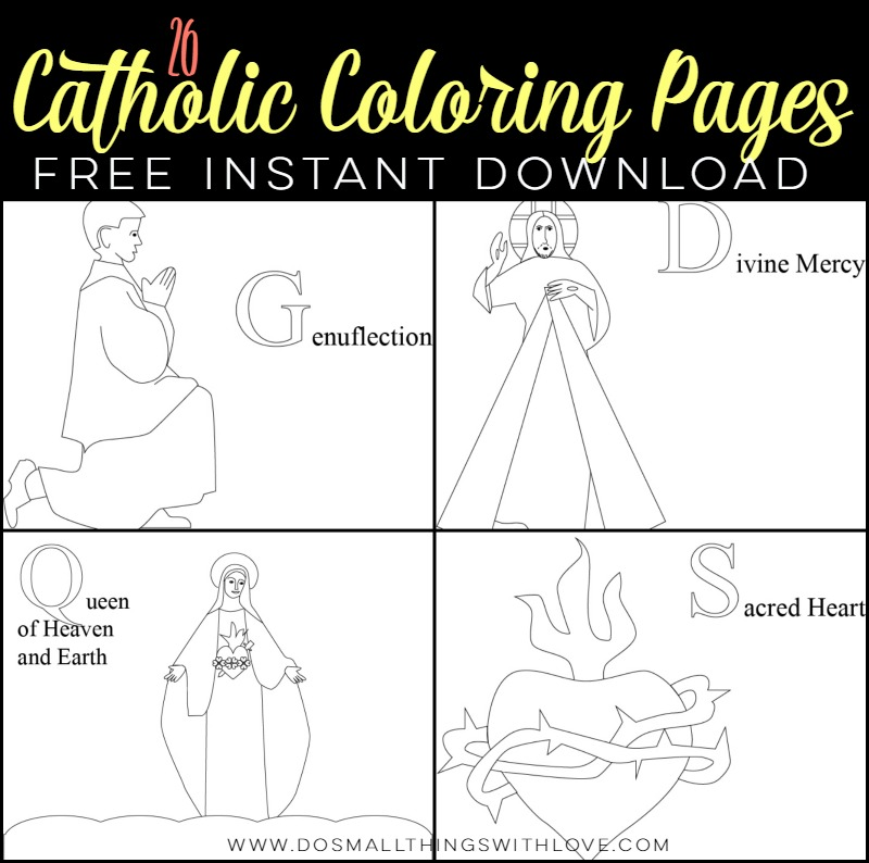 26 Catholic Coloring Pages Free Instant Download
